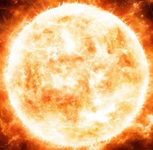 太陽が燃えている画像(プロフィール画像)