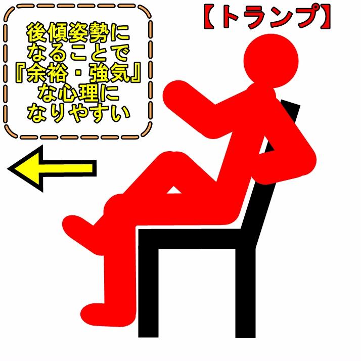 トランプ大統領商談時の自分の椅子